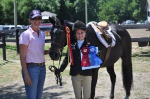 Madison Busey with her swag from Warrenton Pony Show