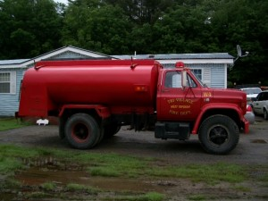 Our new water truck. No siren, but the flashing lights work!