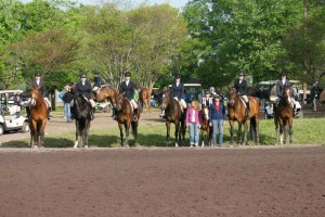 Group shot of Clairvaux riders at HITS Culpeper, April '12