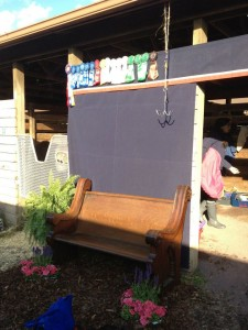 Our tack room set-up at The Commonwealth National Horse Show (Culpeper)