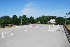 Northern VA Outdoor Arena with Jumps and Lights