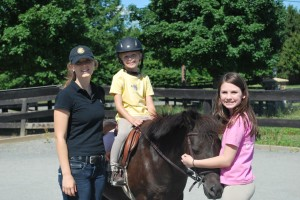 Ali, Claudia, Madison and Cupcake at Summer Horse Camp