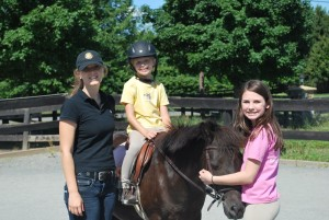 Ali, Claudia and Madison at Horse Camp
