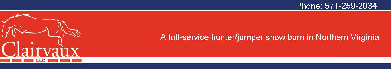 Clairvaux, LLC Hunter / Jumper Show Barn Logo